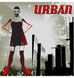 urban attitude vector image vector image