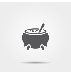 Witch cauldron icon vector image vector image