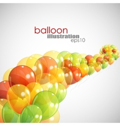 abstract background with multicolored balloons vector image