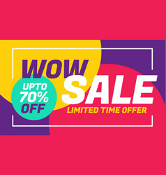 Advertising sale banner design with colorful vector