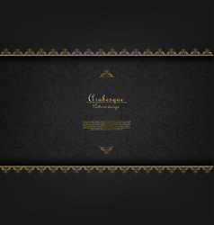 arabesque vintage element classic gold background vector image