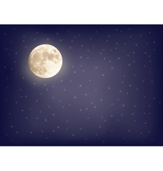 background with full moon vector image