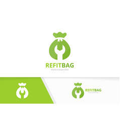 bag logo combination sack and repair vector image