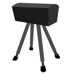 black pommel horse on white background vector image