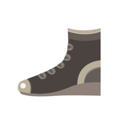 boots flat icon design elegance sport fashion vector image