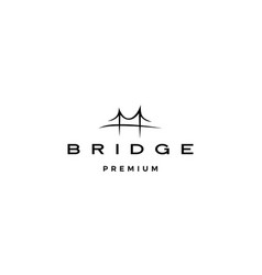 Bridge logo icon line outline monoline vector