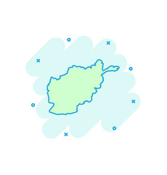 cartoon afghanistan map icon in comic style vector image