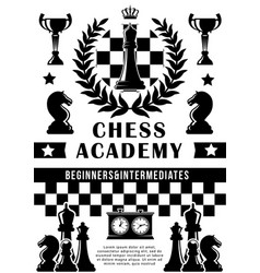 Chess academy sport game vector