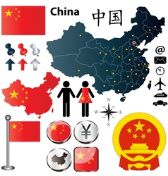 China map vector image