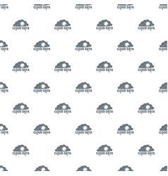 cloud data pattern seamless vector image