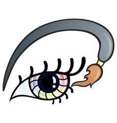 Colorful eye vector