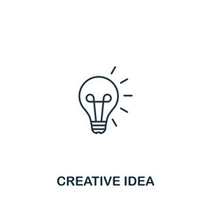 creative idea icon thin outline style design from vector image