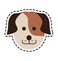 Cute dog icon image vector