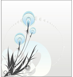 Decorative dandelion vector image