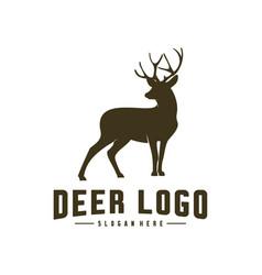 deer logo design icon symbol deer deer silhouette vector image