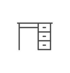 Desk line icon vector