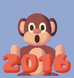 dotted monkey symbol 2016 rose quartz and vector image