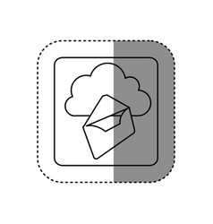 Figure cloud letter network icon vector