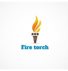 Fire torch vector
