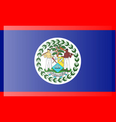 Flag belize accurate dimensions element vector