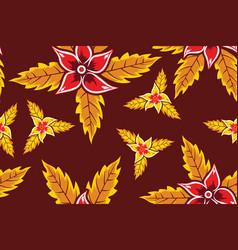 floral batik motif vector image