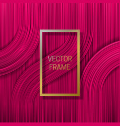 golden frame on volumetric saturated background vector image
