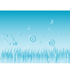 Grass and Bugs vector image