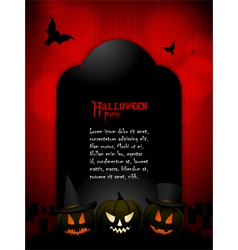 Halloween tombstone with sample text vector