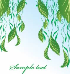 Hanging leaves vector