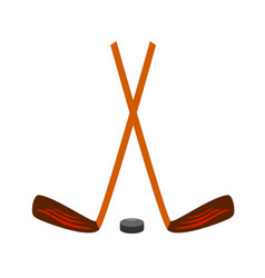 Hockey set icon on white vector