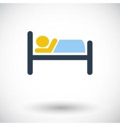 Hotel single icon vector