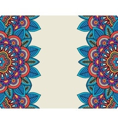 Indian doodle boho floral borders vector