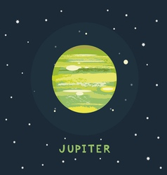 Jupiter space view vector