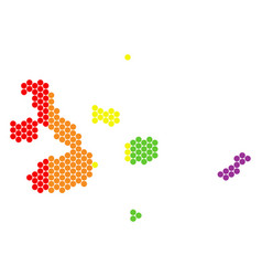 Lgbt spectrum dotted galapagos islands map vector