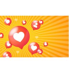 like social network element concept banner card vector image
