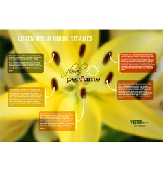lily flower theme template page booklet new vector image