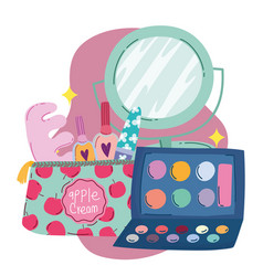 makeup cosmetics product fashion beauty manicure vector image