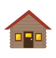 merry christmas house isolated icon vector image