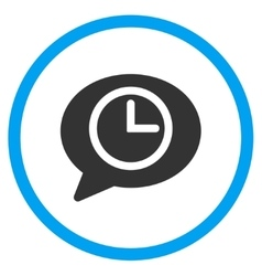 Message Time Rounded Icon vector