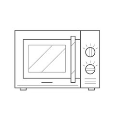 Microwave oven icon vector