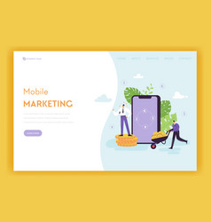 mobile marketing landing page online banking vector image