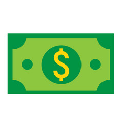money dollar flat icon business and finance cash vector image