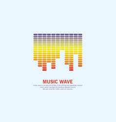 music colorful wave logo equalizer element vector image