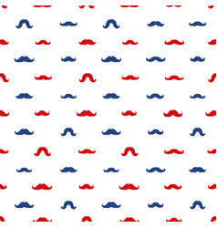 Mustaches seamless pattern november vector