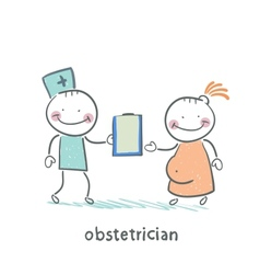 obstetrician with a patient vector image