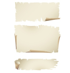 Old paper banners vector