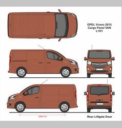 Opel vivaro cargo panel van l1h1 2015 liftgate vector