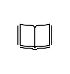 open book line icon black vector image
