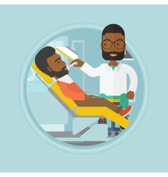 Patient on reception at the dentist vector image