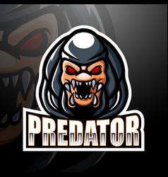 Predator mascot esport logo design vector